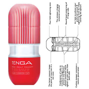 Tenga-Masturbateur Air Cushion réutilisable Secret toy