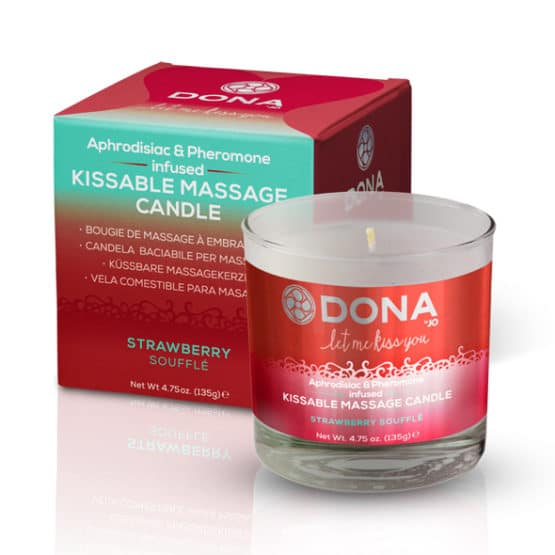Dona-Bougie de massage comestible fraise soufflée Secret toy