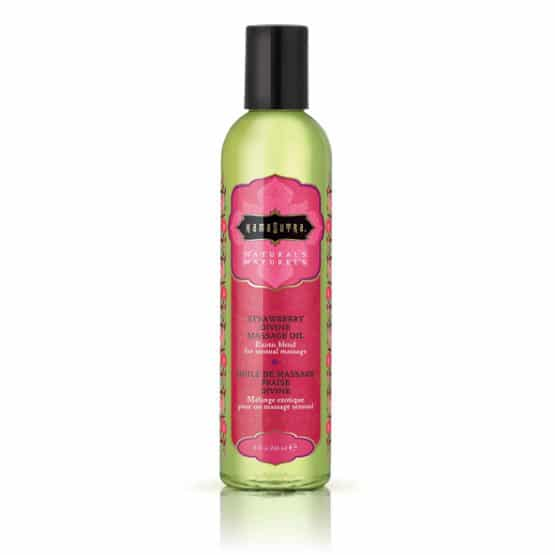 Kamasutra-Huile de massage naturelle Fraise divine 236 ml-Secret toy