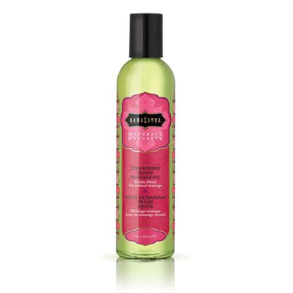 Kamasutra-Huile de massage naturelle Fraise divine 236 ml-Secret toy