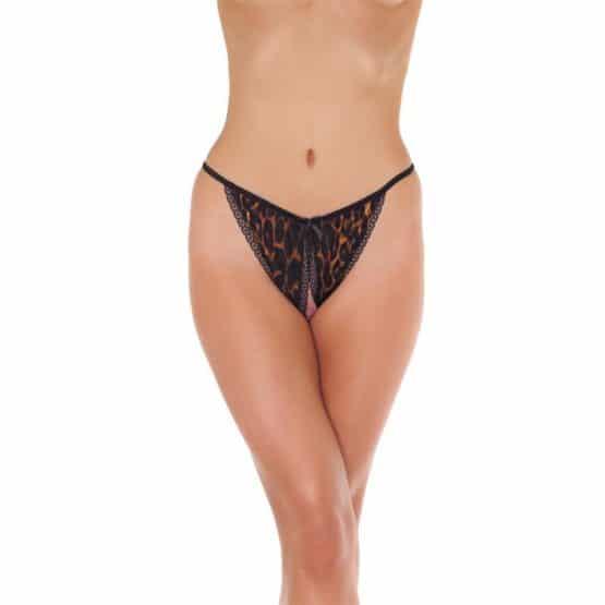 Amorable-Culotte ouverte léopard extensible-Secret toy