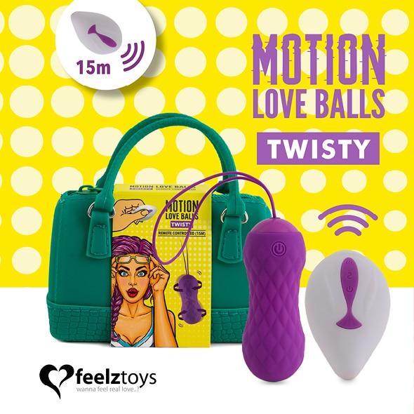 Feelztoys-Oeuf vibrant télécommandé effet rotation et torsion-Secret toy