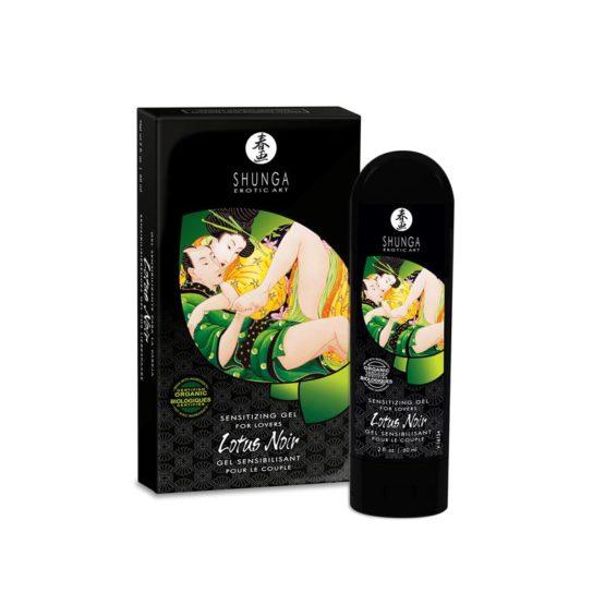 Shunga-Gel stimulant pour couple Lotus noir 60 ml-Secret toy